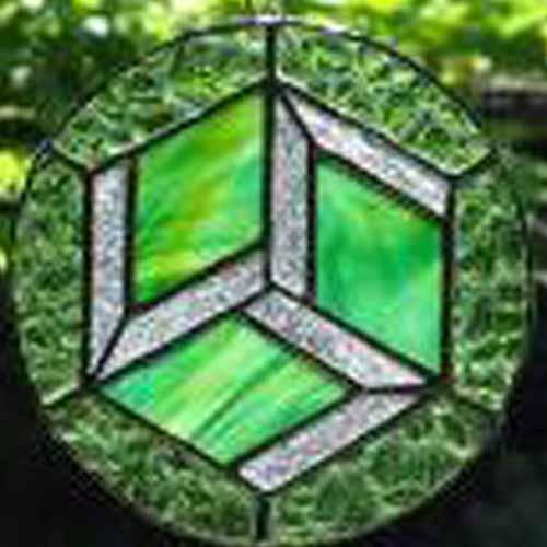 3D cube  illusion Suncatcher