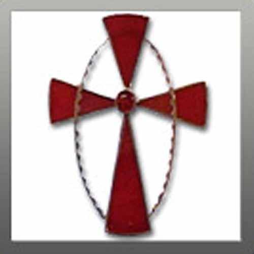 Cross in Oval