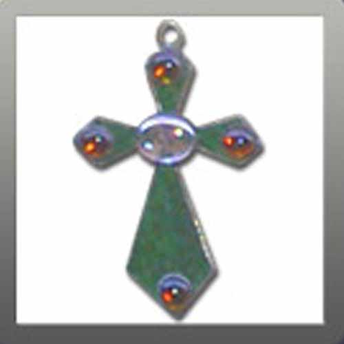 Cross with Red Beads